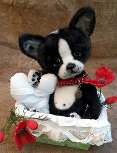 ASTRO a Boston Terrier By The Tuscany Bear Maker - Bear Pile