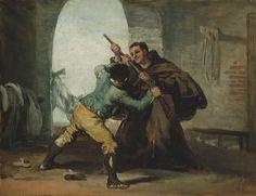 77. Il frate Pedro de Zaldivia strappa il fucile a El Maragato - 1806-07 - Chicago, The Art Institut of Chicago