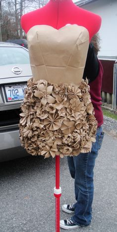 I need this for the next ABC (Anything But Clothes) party. Brown Paper Bags. AWESOME!