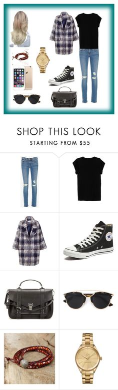 """Tomboy #2"" by kaitlynthestylist on Polyvore featuring Frame Denim, Isabel Marant, The 2nd Skin Co., Converse, Proenza Schouler, Christian Dior, NOVICA and Lacoste"