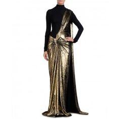 Antique Golden Sari Gown