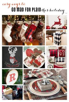 Easy ways to incorporate the mad for plaid trend into your holiday!   curated by Kim Byers, TheCelebrationShoppe.com