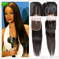 Straight Brazilian Human Hair With Closure Rosa Hair Products With… Rosa Hair, Hairpieces For Women, Lace Closure, Silk Top, Hair Products, Hair Pieces, Straight Hairstyles, 4x4, Wigs