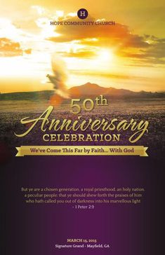 Church 50th anniversary invitations history of fbcup church 50th flipsnack church anniversary service program template by michael taylor altavistaventures Images