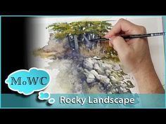 Painting a Rocky Watercolor Landscape – Spontaneous Painting - YouTube