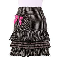 Neoviva Cotton Girls Waist Apron with Pocket and Ruffles ...