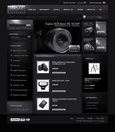 B&W Photo ZenCart Templates by Oldman