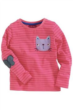 Buy Pink Stripe Cat Pocket Top from the Next UK online shop