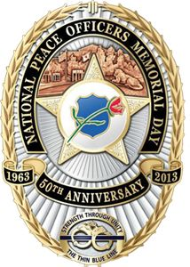 The 2013 National Police Officer Memorial Badge honoring the 120 American Police Officers who served and protected their communities with the ultimate sacrifice in 2013.  Thanks is never enough...we will never forget. Law Enforcement Today www.lawenforcementtoday.com