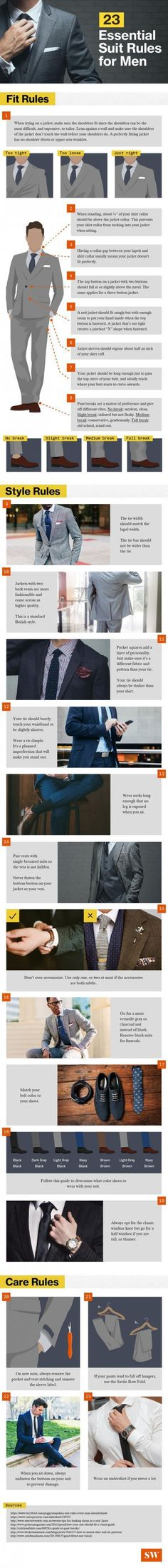 23 Essential Suit Tips for Men #Style #Fashion #Menswear Re-pinned by www.avacationrental4me.com