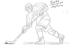 How to draw a hockey player step by step 5