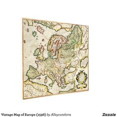 Vintage Map of Europe (1596) Canvas Print