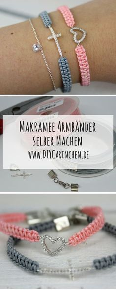 DIY simple macrame bracelets + detailed instructions Hand Made , DIY Makramee Armbänder einfach selber knüpfen + ausführliche Anleitung DIY DIY Macrame Bracelets - With this step by step guide and Silverbell, it def. Diy Jewelry Unique, Diy Jewelry To Sell, Diy Jewelry Holder, Diy Jewelry Tutorials, Diy Jewelry Making, Jewelry Crafts, Macrame Bracelet Diy, Macrame Jewelry, Macrame Knots