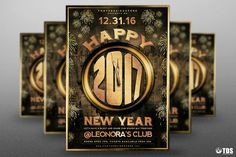 New Year Flyer Template V4 by Thats Design Store on @creativemarket