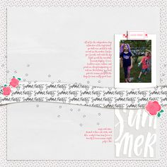 digital scrapbook layout made with backyard bbq from paislee press at the lilypad