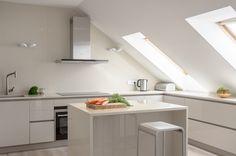 kleine Küche Dachschräge Fenster Design | Renovieren | Pinterest ...