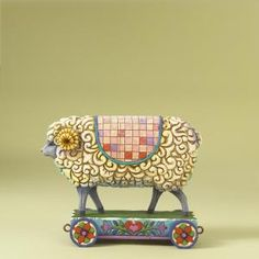 Sheep On Cart