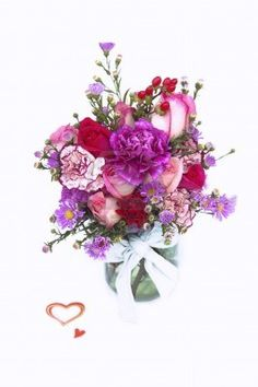 Picture of Valentine Fresh Flower Bouquet in a Glass Jar stock photo, images and stock photography. Valentines Flowers, Fresh Flowers, Glass Jars, Illustration, Floral Wreath, Bouquet, Stock Photos, Inspiration, Videos