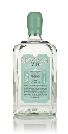 Brighton Gin is a fantastic tipple from the beautiful city of Brighton and Hove on the South Coast, made by five Brightonian gin lovers, including a former restaurateur, a spirits specialist, a Gin Bottles, Perfume Bottles, Gins Of The World, London Gin, Gin Distillery, Gin Tasting, Juniperus Communis, Gin Bar, Gin Lovers