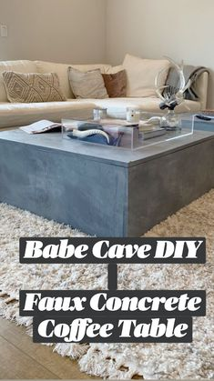 Concrete Coffee Table, Diy Coffee Table, Do It Yourself Furniture, Diy Furniture, Diy Home Decor, Room Decor, Babe Cave, Apartment Living, Shopping