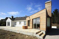 Picturesque Irish Home Gets a Natural Modern Extension - http://dornob.com