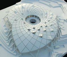 A model of the new building for the Eden Project