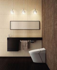 Chic and Modern TV Wall Mount Ideas for Living Room Bathroom Design Small, Bathroom Interior Design, Modern Interior, Interior Styling, Bathroom Organization, Bathroom Storage, Modern Tv Wall, Toilet Room, Toilet Design