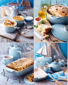 Le Creuset Coastal Blue.... So pretty... Leave the brights... Go subtle for your kitchen!!! Gorgeous color...