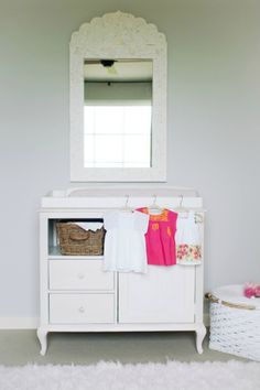 Changing Table// Neutral Colors// Long Mirrors