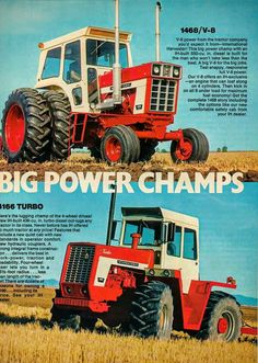 IH Big Power Champs Ad Featuring the 1468 V-8 and 4166 FWD