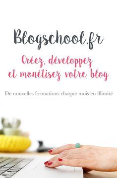 Blogschool.fr, c'est : ❤︎ Des cours en ligne pour apprendre à créer, développer et monétiser son blog ❤︎ Une communauté de blogueuses soudées qui se soutiennent, s'encouragent et s'entraident