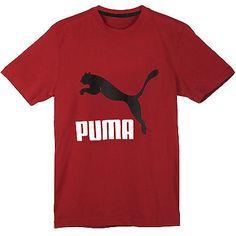 57e8b515ec56 Puma Archive Logo Tee Mens 569974-04 Red Black T-Shirt Top Apparel Size XL