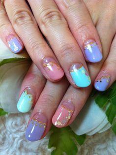 Pastel Mix Designed Nails