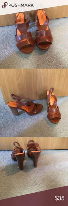 Kenneth Cole Heels Incredibly cute, brown Kenneth Cole heels. They are in great condition and look new. Super comfy for heels and this color brown goes with so much! Kenneth Cole Shoes Heels