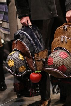 A close up on accessories backstage at Fendi Men's RTW Fall 2015. [Photo by Kuba Dabrowski]