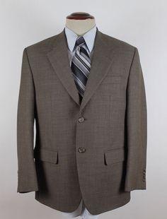 Lauren Ralph Lauren Blazer Sport Coat Mens size 40S 100% Wool Beige 2 button EUC #LaurenRalphLauren #TwoButton