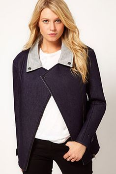 ASOS biker jacket in bonded denim - forum buys