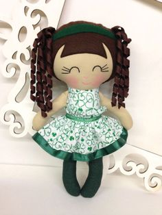 St Patrick's Day Handmade Dolls St Patty's by SewManyPretties, $40.00