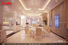 Không gian phòng bếp và phòng ăn đẹp hoàn hảo đem lại những bữa ăn ngon miệng cho các thành viên trong gia đình