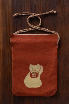 draw string purse by ponpindo, japan