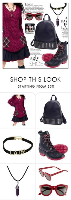 """Ugly (But Chic?!) Shoes"" by jecakns ❤ liked on Polyvore featuring L.L.Bean, Yves Saint Laurent, Chanel, BackToSchool, outfit, falltrend and oglyshoes"