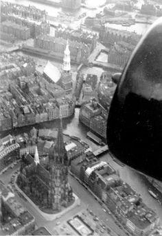 Hamburg - St. Nikolai Kirche (Luftbild)
