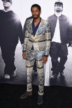 Actor Keith Stanfield attends the Universal Pictures and Legendary Pictures'… Legendary Pictures, Straight Outta Compton, Im So Fancy, Its A Mans World, Universal Pictures, Street Style, Actors, Blazer, Fashion