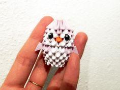 Mini paper 3d origami penguin