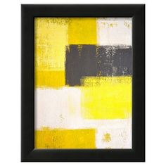 Art.com Decorative Wall Panel Grey And Abstract - Yellow : Target