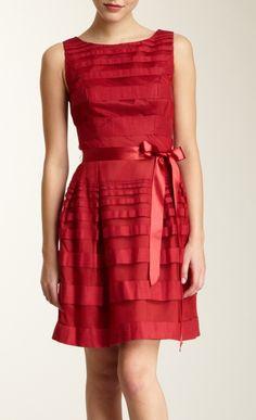 Scarlet bow dress / trina turk. I'd add some sleeves...  The idea of folded fabrics