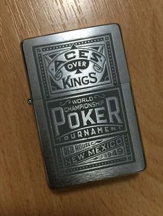 Zippo Aces Over Kings - World Championship Poker Tournament - New Mexico 1949