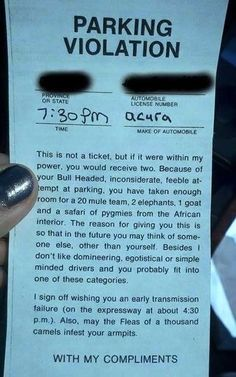 This is not a ticket…