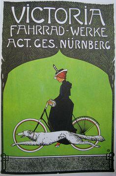 Vintage Bicycle Posters: Victoria Fahrrad-Werke, via Flickr.