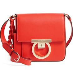 04c8f108d22 Main Image - Salvatore Ferragamo Gancio Lock Leather Crossbody Bag Leather  Belt Bag, Leather Crossbody